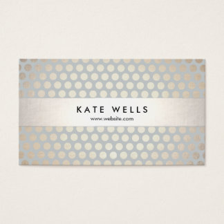 Stylish Designer Gold and Gray Circle Pattern Business Card