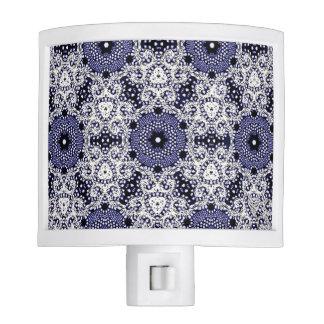 """Stylish Designs"" Crochet Lace-White / Blue Night Light"