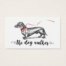 Dog walking business cards templates zazzle colourmoves