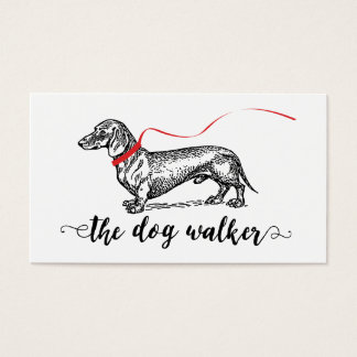 STYLISH DOG WALKER BUSINESS | DOG LOVER BUSINESS CARD