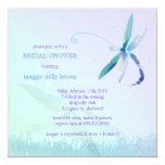Stylish Dragonfly Blue Purple Bridal Shower Invite