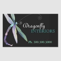 Stylish Dragonfly Business Promotional Stickers sticker