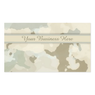 Stylish Earth-tone Camouflage Abstract Background Business Card