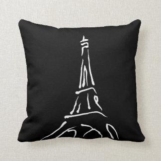 Stylish Eiffel Tower Sketch Throw Pillow
