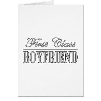 Stylish Elegant Boyfriends : First Class Boyfriend Stationery Note Card