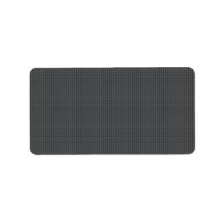 Stylish elegant dark gray textured blank address label