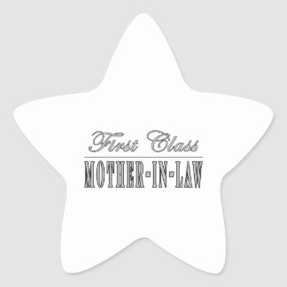 Stylish Elegant Gifts : First Class Mother in Law Sticker