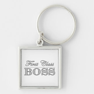 Stylish Elegant Gifts for Bosses First Class Boss Key Chains