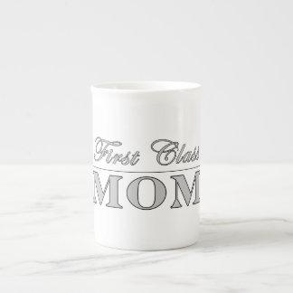 Stylish Elegant Gifts for Moms First Class Mom Porcelain Mug