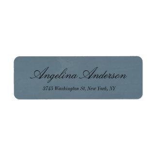 Stylish Elegant Handwriting Modern Blue Grey Label