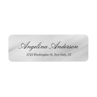 Stylish Elegant Handwriting Modern Gray Label