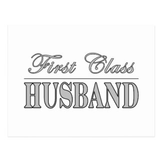 Stylish Elegant Husbands : First Class Husband Postcard