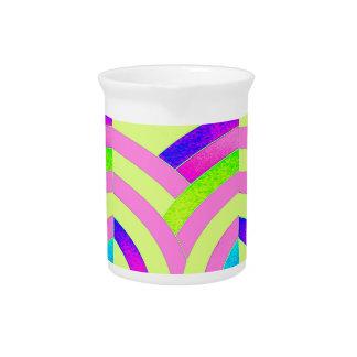 stylish elegant modern chevrons beverage pitcher