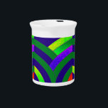 "stylish elegant modern chevrons beverage pitcher<br><div class=""desc"">chic sophisticated contemporary green/blue  chevron design</div>"