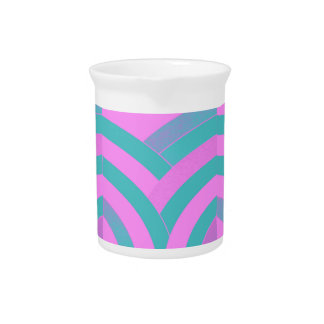 stylish elegant modern chevrons drink pitcher