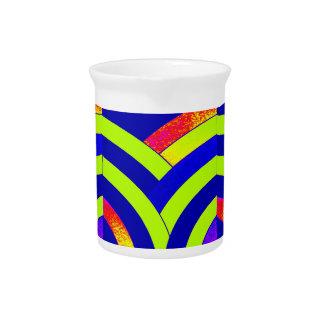 stylish elegant modern chevrons pitcher