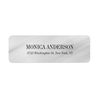 Stylish Elegant Modern Gray Background Label