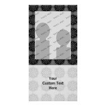 Stylish elegant pattern. Black and Gray. Card