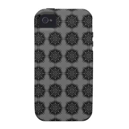 Stylish elegant pattern. Black and Gray. iPhone 4/4S Cover