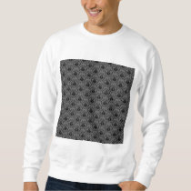 Stylish elegant pattern. Black and Gray Damask. Sweatshirt