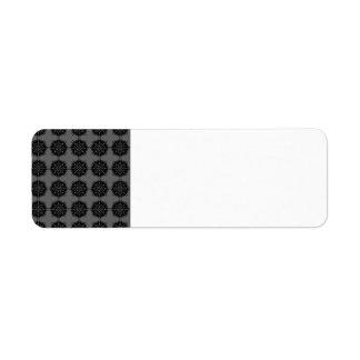 Stylish elegant pattern. Black and Gray. Return Address Label