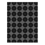 Stylish elegant pattern. Black and Gray. Postcards