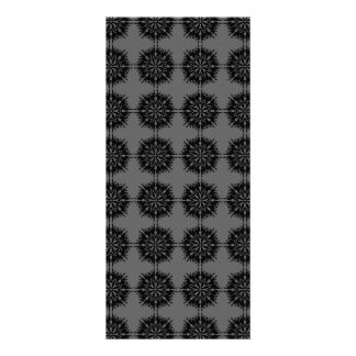 Stylish elegant pattern. Black and Gray. Rack Card