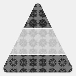 Stylish elegant pattern. Black and Gray. Triangle Sticker