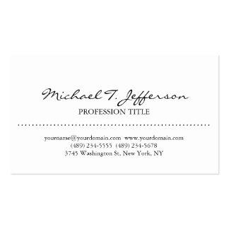 Stylish Elegant Plain Simple White Business Card