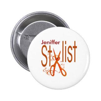Stylish Elegant Stylist Design Pinback Button
