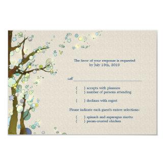 Stylish, Elegant Tree Theme Wedding RSVP (3.5x5) 3.5x5 Paper Invitation Card