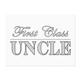 Stylish Elegant Uncles : First Class Uncle Canvas Print