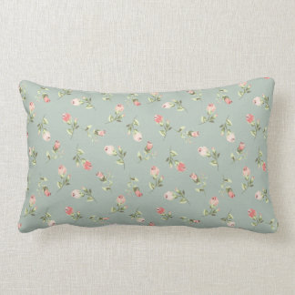 Stylish Elegant Vintage Floral Poly Lumbar Pillow
