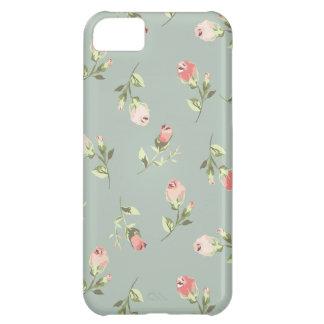Stylish Elegant Vintage Floral Rose iPhone 5C Case