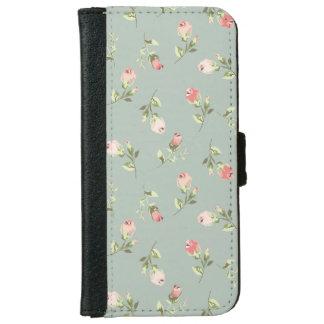 Stylish Elegant Vintage Rose iPhone 6 Wallet Case