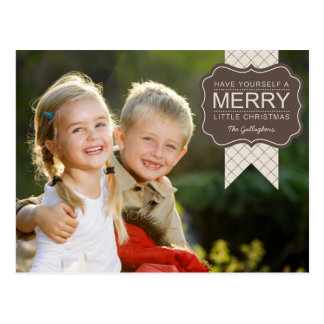 Stylish Embellishment Christmas Photo Card