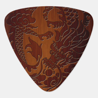 Stylish Engraved Dragon Tattoo in wood Look Pick