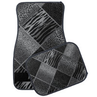 Stylish Exotic Animal Patterns | Gray & Black Car Mat