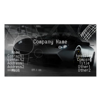 Stylish exotic car in black Double-Sided standard business cards (Pack of 100)