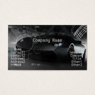 Stylish exotic car in black business card