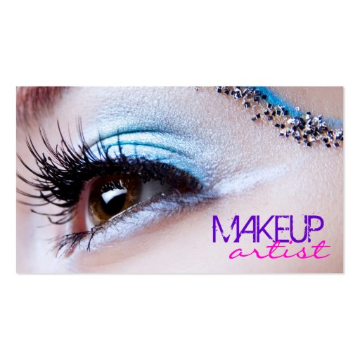 Stylish Eye Shadow - Makeup Artist Business Card Template (front side)