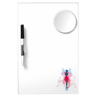 Stylish Fairy girly silhouette illustration Dry Erase Board With Mirror