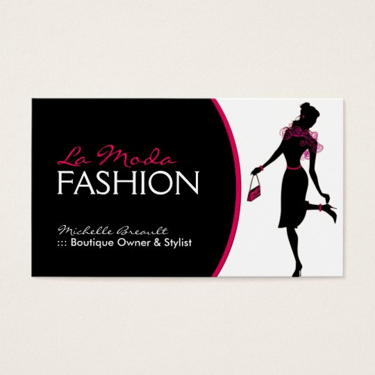 Stylish Fashion Designer Business Card Zazzle Com