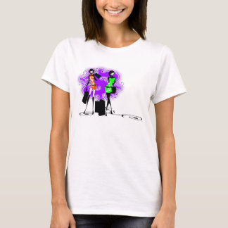 Stylish fashion glam models french T-Shirt