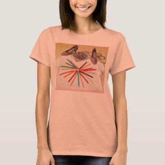 Stylish fashion-themed women's t-shirt pink