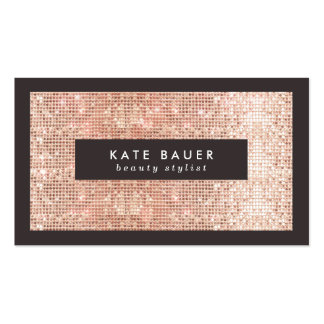Stylish Faux Copper Sequins Beauty and Fashion Double-Sided Standard Business Cards (Pack Of 100)