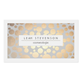 Stylish Faux Gold Foil Cosmetologist Salon and Spa Double-Sided Standard Business Cards (Pack Of 100)