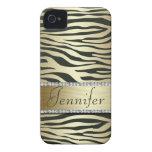 Stylish Faux Jeweled Zebra Print iPhone Case Case-Mate iPhone 4 Case