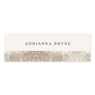 Stylish Faux Sequin Fashion and Beauty Stylist 2 Mini Business Card