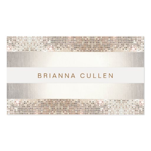 Sequin business card templates page3 bizcardstudio stylish faux sequin stripe beauty and fashion business card templates colourmoves